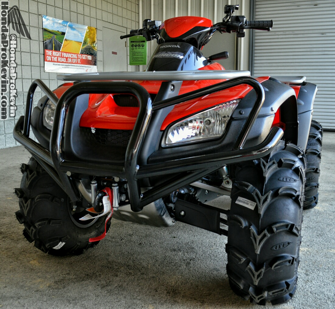 Custom Honda 680 Rincon Four Wheeler ATV + Mud Package Tires & Wheels with Warn Winch and more!