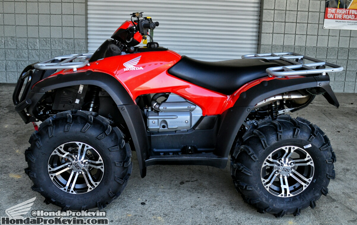 2016 Honda Rincon 680 ATV + ITP Mud Lite Tires & SS 212 Wheels + Winch + Front Bumper - Aftermarket Parts & Accessories TRX680