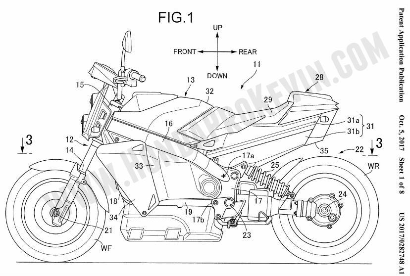 2018-2019 Honda Motorcycle with Hybrid Fuel Cell Technology