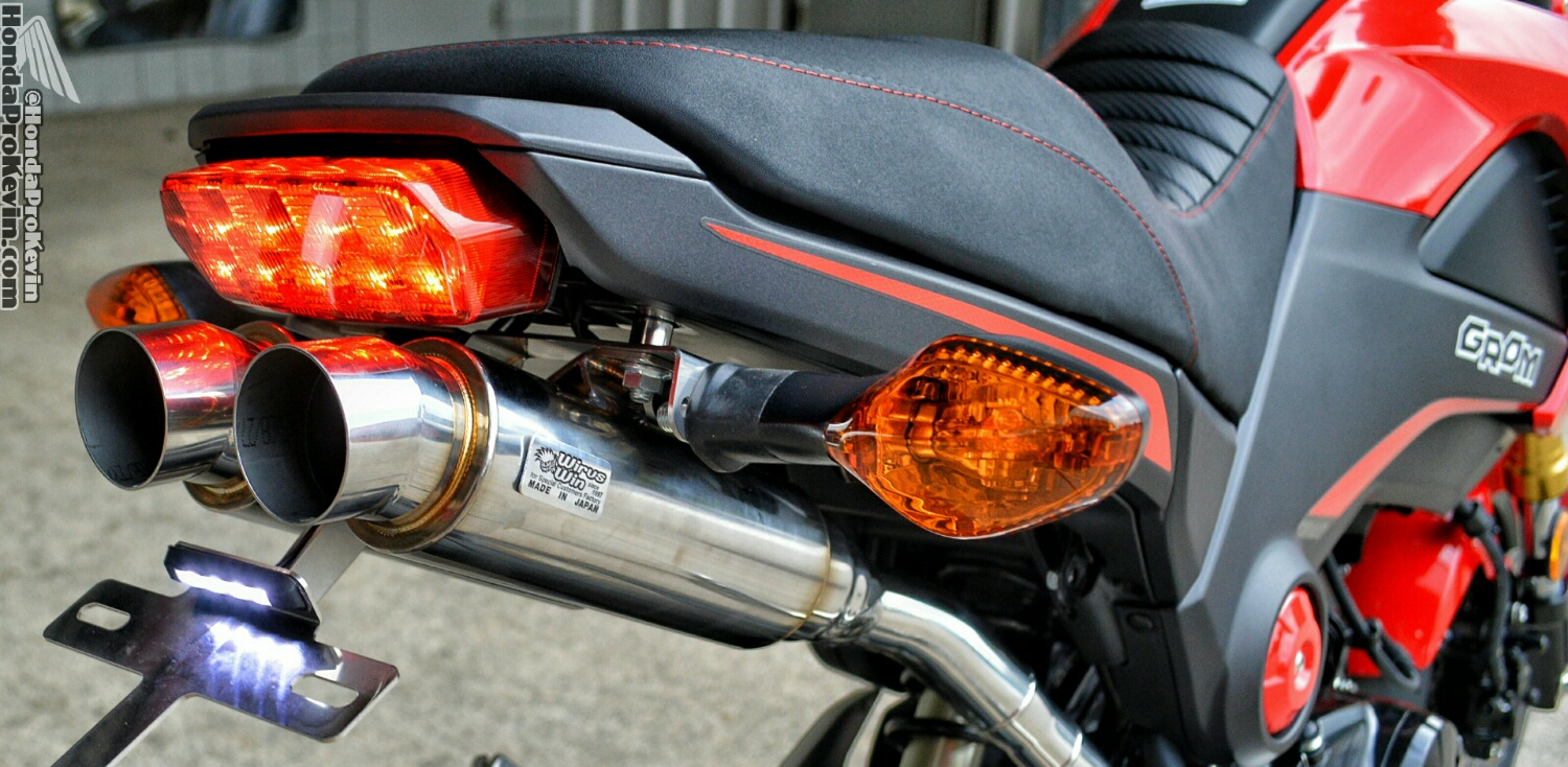 Honda Grom MSX Undertail / Underbody Dual Exhaust Review, Pictures, Videos
