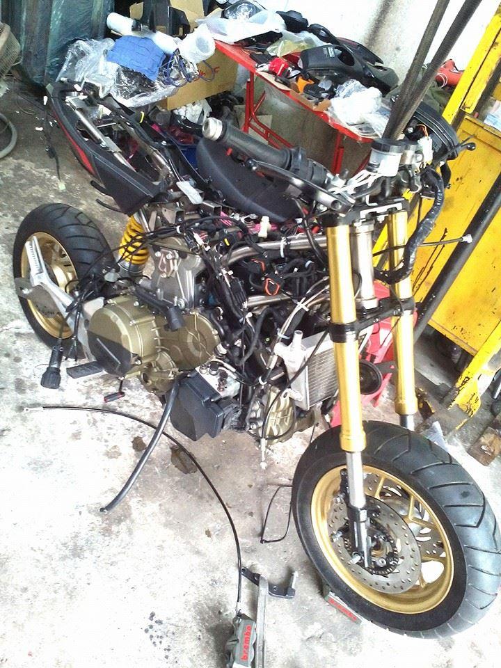 Custom Honda Grom / MSX Engine Swap - Ducati Panigale 1199 Sport Bike / Motorcycle