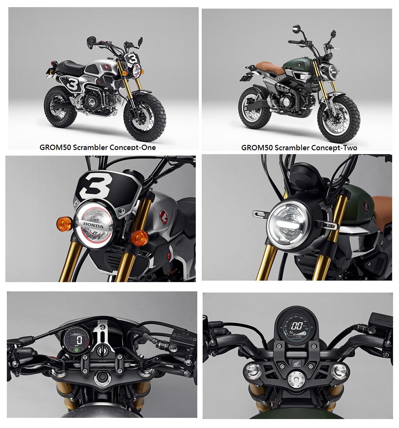 2016 Honda Grom 50 Scrambler Concept Motorcycles / Bikes