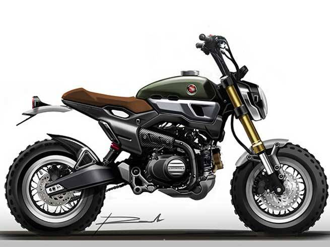 Update Edit Here S A Few Of The Honda Grom Scrambler Concept Prototype Sketch Drawings Before Actually Built Bikes