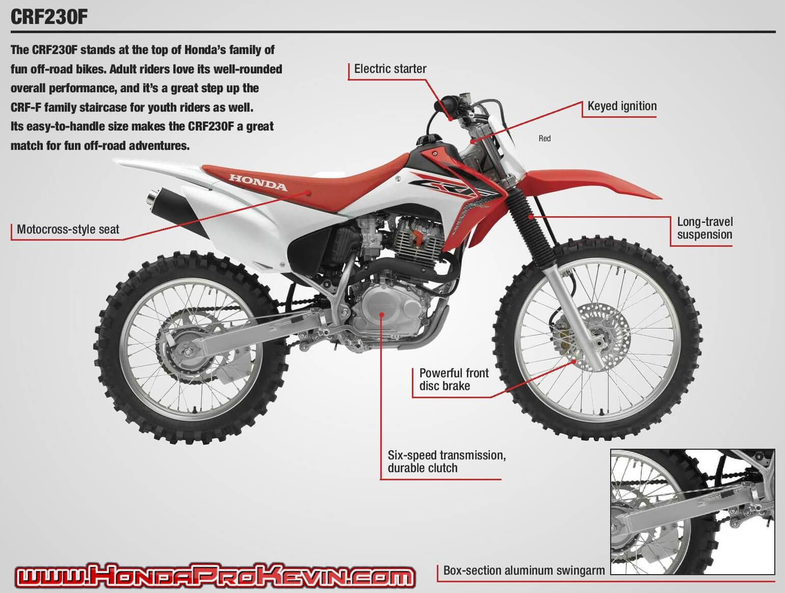Honda CRF230F Review / Specs + Features Explained | Motorcycle / CRF Dirt & Trail Bike
