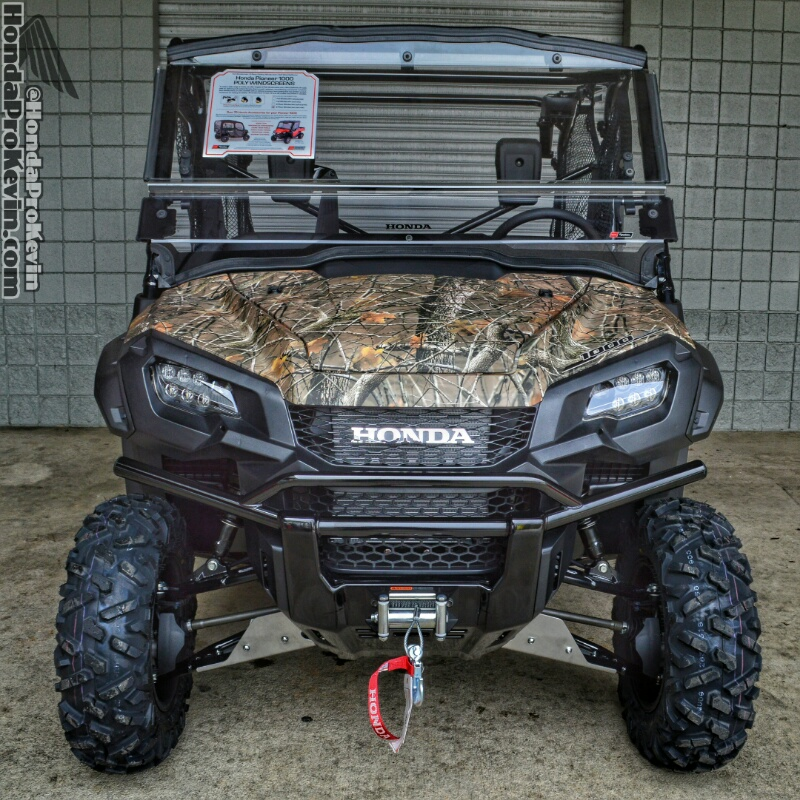 Custom 2016 Honda Pioneer 1000-5 Camo Winch & A-Arm Guards Skid Plate Accessories - Review / Specs - Side by Side ATV / UTV / SxS / Utility Vehicle - HP Performance Info