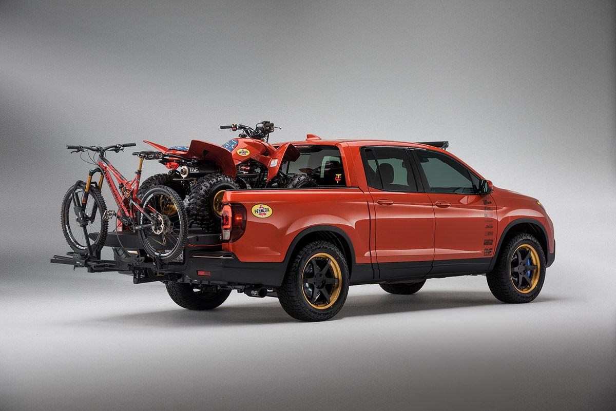 Custom 2017 Honda TRX250X Sport / Race ATV - 2017 Ridgeline Truck / Cars - TJIN SEMA 2016