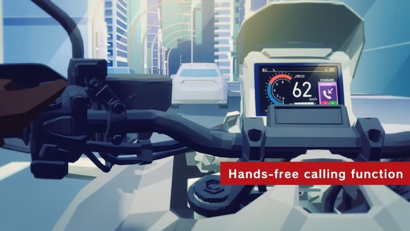 Honda Motorcycle Smartphone Voice Control System Bluetooth Connection