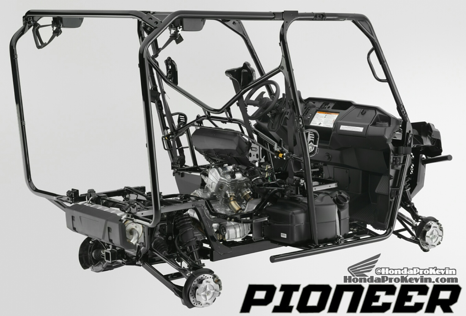 2018 Honda Pioneer 1000 Base Model Review Specs Detailed 2003 Civic Engine Diagram Besides Addition Shadow 600 Frame Suspension Price Side By Atv