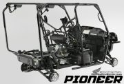 Honda Pioneer 1000 Frame & Suspension Review / Specs - Price / Side by Side ATV / UTV / SxS / 4x4 Utility Vehicle