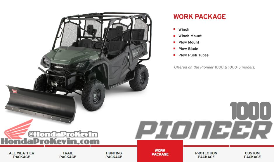 Custom 2016 Honda Pioneer 1000 Side by Side / UTV / SxS Accessories Work Package
