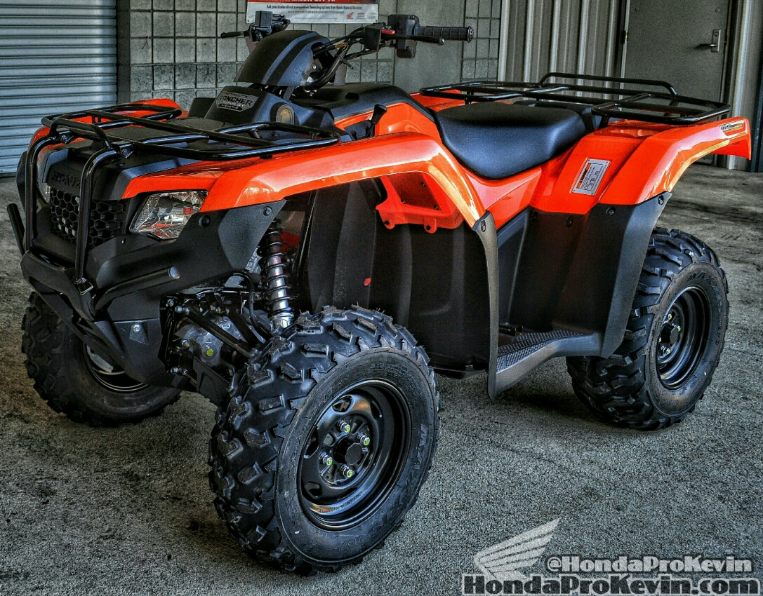 2016 Honda ATV Models / Lineup - FourTrax Rancher TRX 420 4x4 ATV Orange