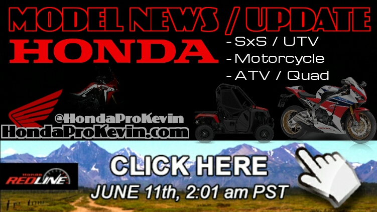 2016 Honda Side by Side / ATV / Motorcycle Model Announcement & News / New Model Update - 2016 Side by Side Release Dates + More June. 2016 Africa Twin CRF1000L Pioneer 1000 Sport UTV Side by Side