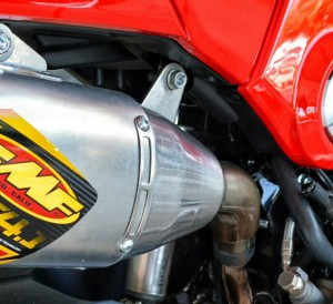 Custom Honda Grom / MSX 125 FMF Exhaust - Carbon Fiber Muffler - Motorcycle / Bike Aftermarket Parts