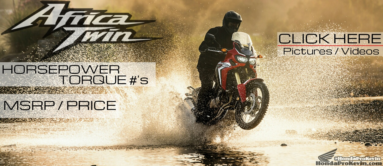 2016 Africa Twin 1000 Price, Horsepower, Specs, Release Date - CRF1000L Adventure Motorcycle