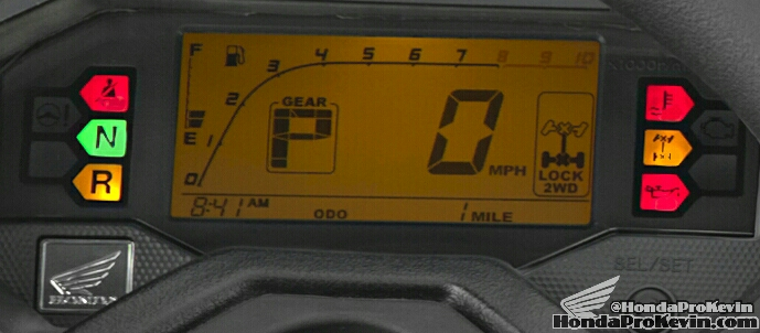 2016 Honda Pioneer 1000 Gauges / Redline - SXS - UTV - Side by Side ATV - SXS1000