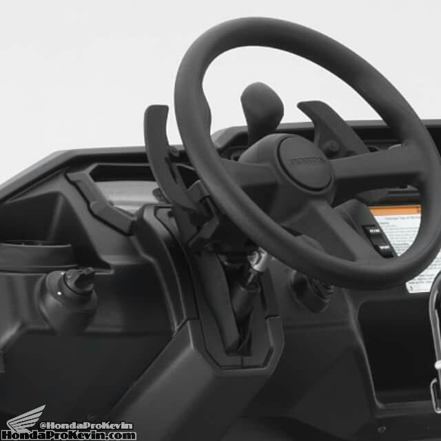 Honda Pioneer 1000 Interior - Tilt Steering Wheel - Frame, Suspension, Engine Pictures - Photo Gallery - SxS / UTV / Side by Side ATV - SXS1000 - SXS1000M3 - SXS1000M5