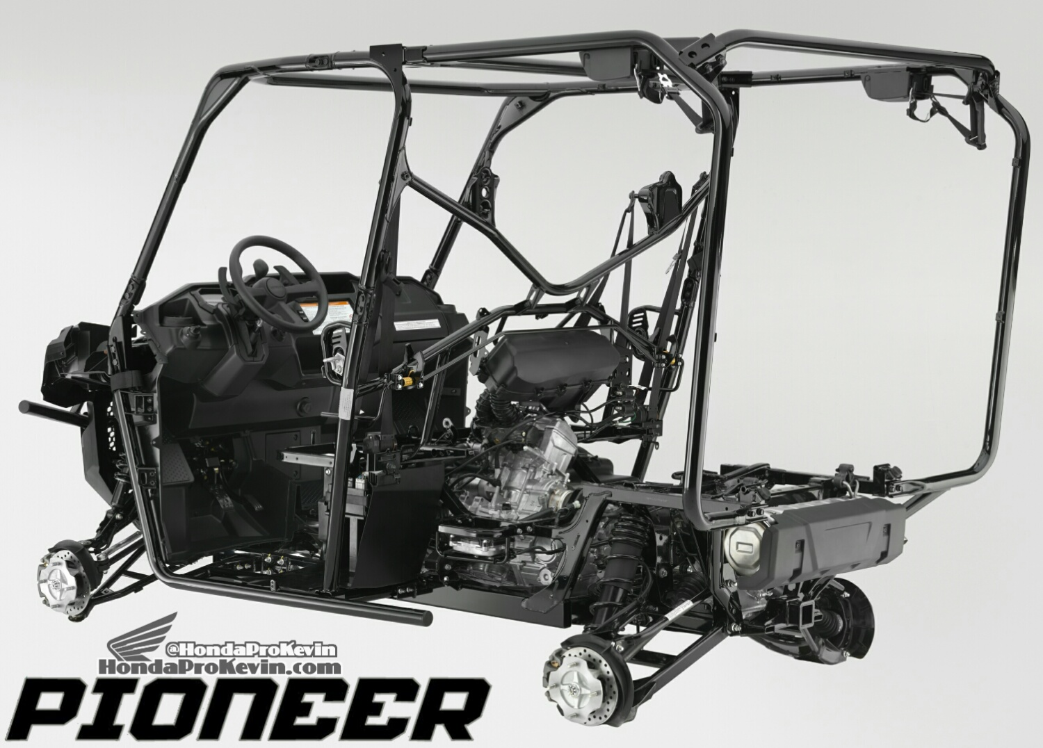 Detailed 2016 Honda Pioneer 1000 & 1000-5 Frame, Suspension, Engine Pictures - Photo Gallery - SxS / UTV / Side by Side ATV - SXS1000 - SXS1000M3 - SXS1000M5