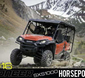 2016 Honda Pioneer 1000 Horsepower / HP Announcement - SXS -UTV - Side by Side - ATV - 1000-5 -SXS1000 - SXS1000M3 - SXS1000M5 Deluxe