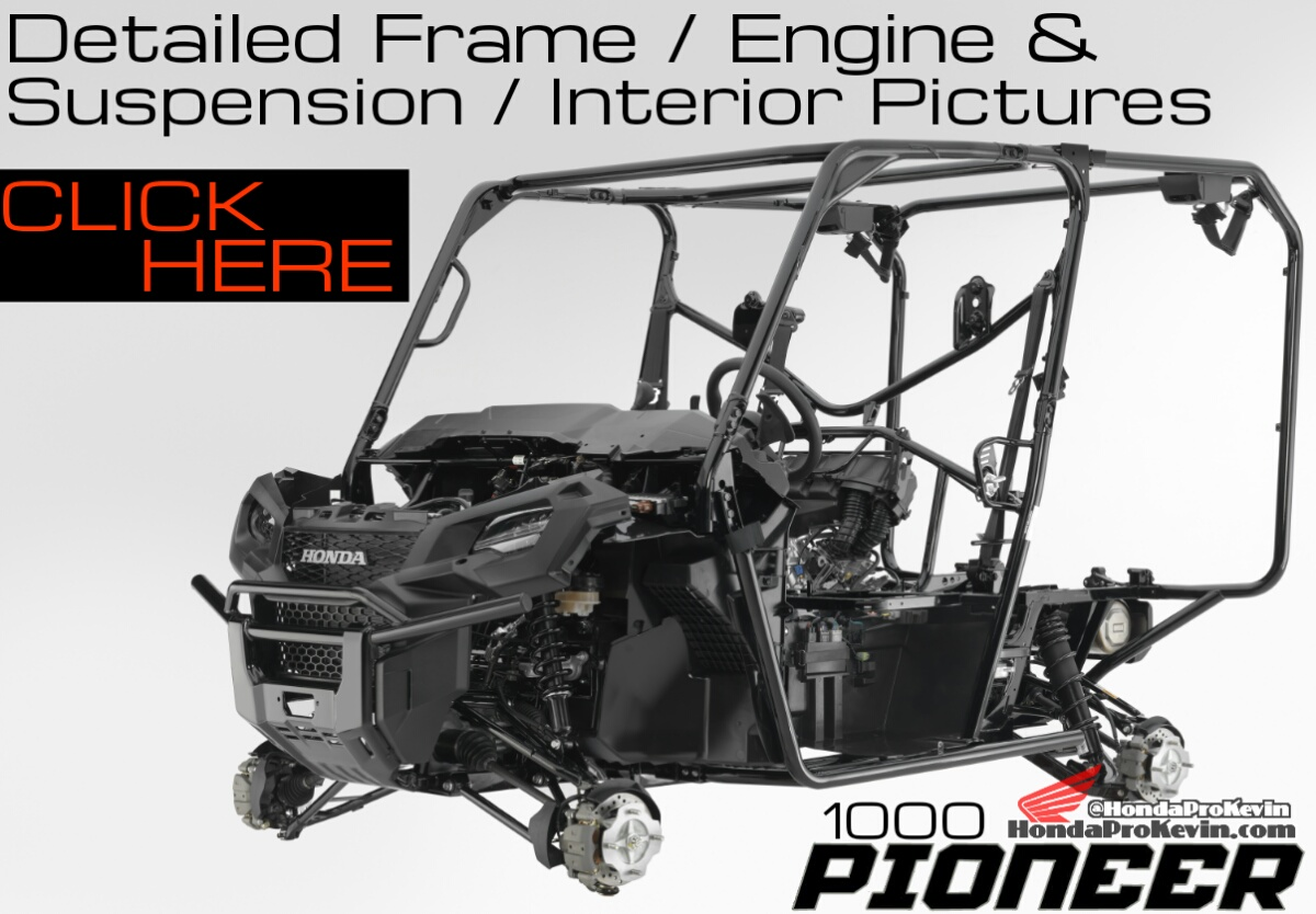 2016 Honda Pioneer 1000 & 1000-5 Interior - Frame - Suspension - Engine Pictures - SXS - UTV - Side by Side ATV - SXS1000M5 - SXS1000M3 - SXS1000