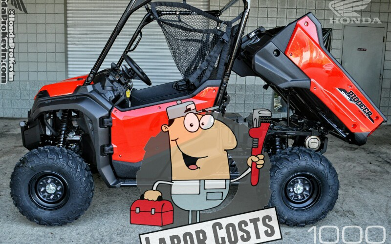 2016 Honda Pioneer 1000 Parts / Accessories Labor Installation Costs