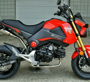 Honda Grom / MSX Dual Exhaust Review, Video Sound Clip - WirusWin Full Exhaust System / Twin Muffler Atomic Sports Style