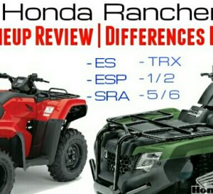2017 Honda Rancher 420 ATV Comparison Review / Specs - Model ID Differences
