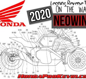 2020 Honda Motorcycle News: NEOWING Reverse Trike with 3-wheels that leans!