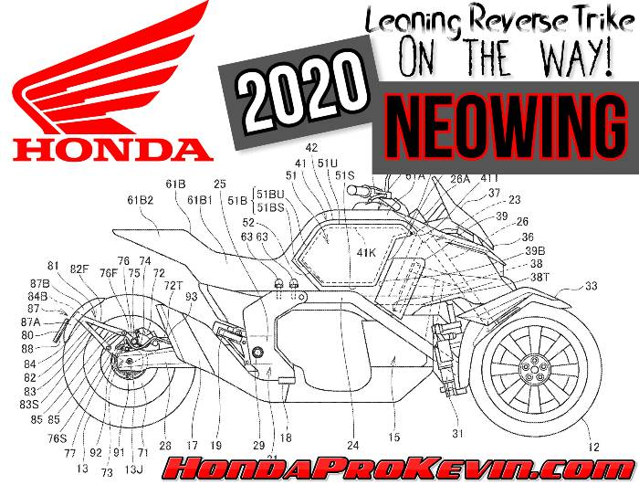 NEW 2020 Honda NEOWING Reverse Trike Motorcycle Patents = Release Date Coming Soon...?