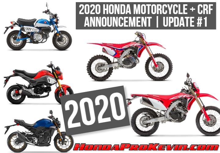 NEW 2020 Honda Motorcycle + CRF Dirt Bike Announcement! | Release Update #1