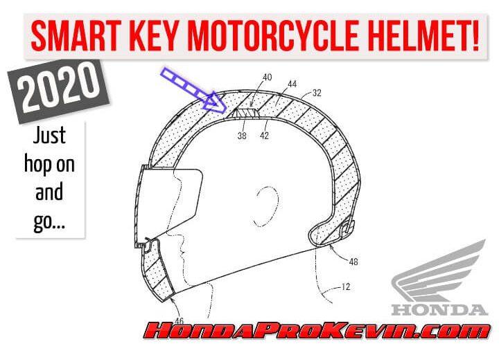 2020 Honda Motorcycle / Scooter Smart Key Helmet Technology SNEAK PEEK!