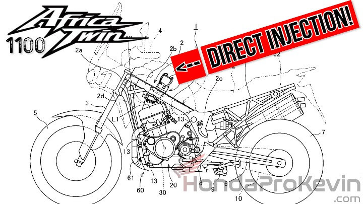 NEWS: 2020 Honda Africa Twin 1100 / CRF1100L Changes - NEW Direct Injection Patent Documents
