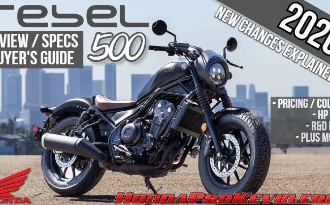 2020 Honda Rebel 500 Review / Specs + New Changes Explained | Price, Colors, Release Date + More!
