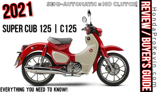 2021 Honda Super Cub 125 Review / Specs | Buyer's Guide: Price, Colors, Changes, MPG + more on the C125 Scooter / Automatic Motorcycle