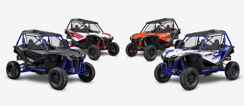 2021 Honda Talon 1000 Models | Model Lineup Review & Specs | Talon 2-seater & 4-seater Sport SxS, Side by Side, UTV, ATV Info