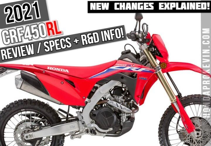 2021 Honda CRF450RL Review / Specs + NEW CRF450L Changes Explained!   New 2021 Dual Sport CRF Motorcycles / Dirt Bikes from Honda