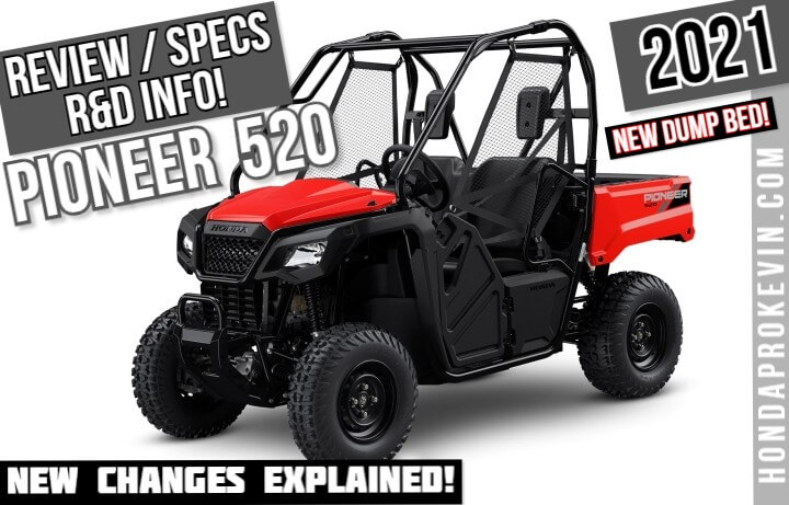 2021 Honda Pioneer 520 Review / Specs + NEW Changes Explained with Dump Bed! | 2021 Honda Pioneer 50 inch Side by Side / UTV / SxS / ATV
