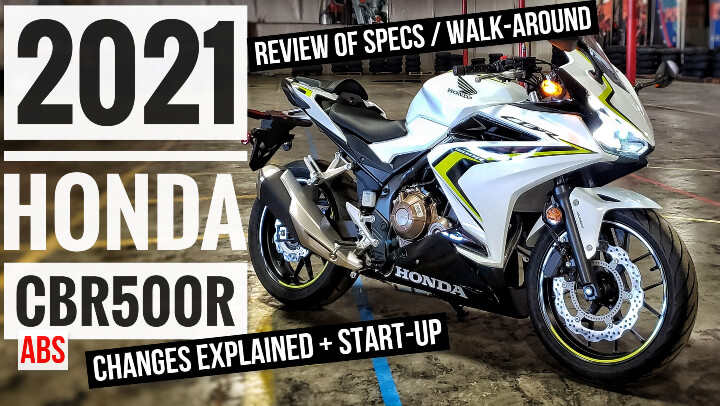 Video: 2021 Honda CBR500R Review with Changes Explained, Start-Up Exhaust Sound + more on this 2021 CBR 500R