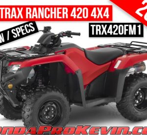 2021 Honda Rancher 420 4x4 ATV Review / Specs | TRX420FM1 FourTrax Manual Shift / Foot Shift Transmission Four Wheeler