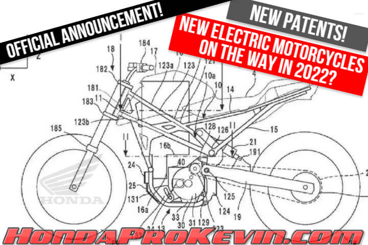 New 2022 Electric Honda Motorcycle News + Official Announcement on New Models