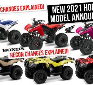 New 2021 Honda Recon 250 & TRX250X ATV Review / Specs + Changes Explained!