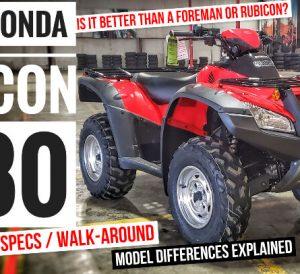 2021 Honda Rincon 680 ATV Review / Specs / Changes and more info on Honda's fastest ATV...