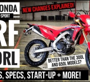 2022 Honda CRF450RL Video Review of Specs & Features + CRF450L Dual-Sport Motorcycle Changes Explained and more!