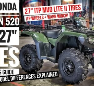 "2022 Honda Foreman Rubicon 520 DCT ATV with 27"" ITP Mud Lite Tires / Wheels + Warn Winch 