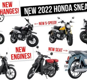 Video: NEW 2022 Honda Motorcycle Changes to the 2022 Monkey 125 and 2022 Honda Super Cub 125 scooter!