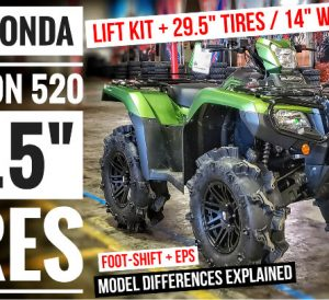"2021 Honda Rubicon 520 ATV Review with 29.5"" Mud Tires + Lift Kit + ITP 14"" Wheels and more..."