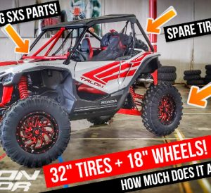 "Honda Talon 1000 with 32"" EFX Tires + 18"" Fuel Wheels + Jsport Racing SxS & UTV Performance Side by Side Parts!"