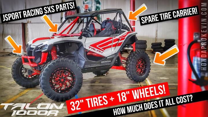 "Custom Honda Talon 1000 with 32"" EFX Tires + 18"" Fuel Wheels + Jsport Racing SxS & UTV Performance Side by Side Parts!"