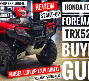 2021 Honda Foreman 520 ATV Review, Specs + Model Lineup Differences Explained on Rubicon VS Foreman and more...