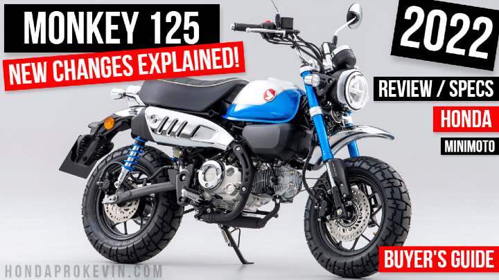 2022 Honda Monkey 125 Review / Specs + NEW Changes Explained | USA Release Info plus more on this 125cc Vintage / Retro styled Mini Bike Motorcycle