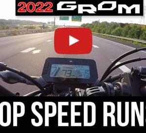 2022 Honda Grom 125 Top Speed on the Highway!